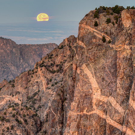 Super Moon from Black Canyon National Park
